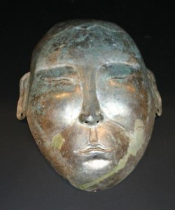 death mask silver