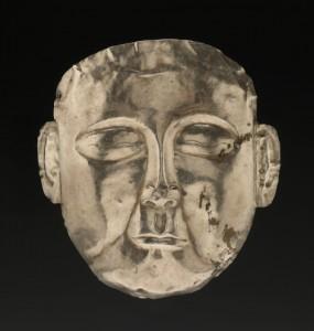 silver death mask