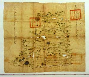 Mongolia Manuscript Map 1864