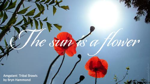 graphic - The sun is a flower
